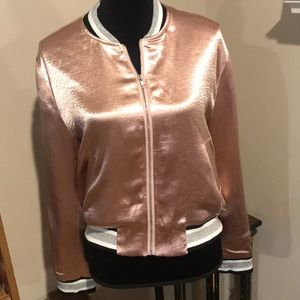 Pink shiny jacket